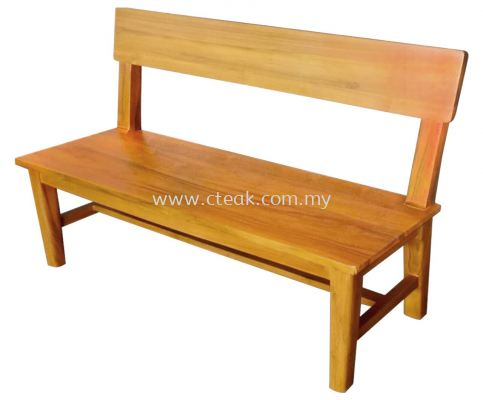 3 Seater Bench With Woodback