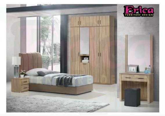 erica bedroom wardrobe melamine wood 1