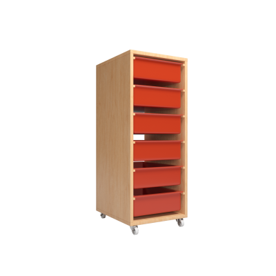 QWA037 Single Manipulative Storage Shelf with 6's L tray