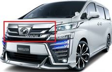 TOYOTA VELLFIRE 2018 MODELISTA FRONT GRILLE COVER FOR AEROBODY