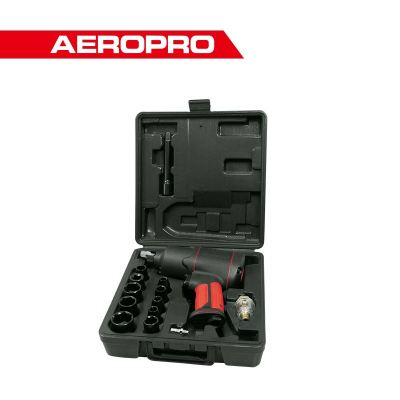 "Aeropro 17pcs 1/2"" Dr. Air Impact Wrench Kits Set 17808A"