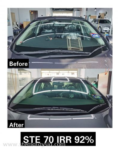 Honda City Done Install STE Window Film Front   Windscreen  Benefit of STE Window Tint -  Up To 9 Years Warranty !  Accept Old Tinted Trade In !  Trade In Value Up To RM 2100 !  We Only Have High UV & IR Rejection !  Privacy and Security !  Protects The Interior Of Your Vehicle !  T & C Apply   Choosing the right heat rejection window films for your car  is very important especially under the hot weather  in Penang. A good quality car window film is able to reduce the heat & harmful UV rays from direct sunlight  so it keeps you comfortable in the car and protects the interior of your car such as the leather seats & dashboard.  STE Auto Detailing offers the best in class car window films from USA that approved by JPJ .
