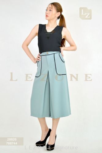 768744 CONTRAST POCKET CULOTTES 【2ND 50%】