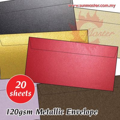 "8.5"" x 4.5"" Metallic Envelope (20s)"
