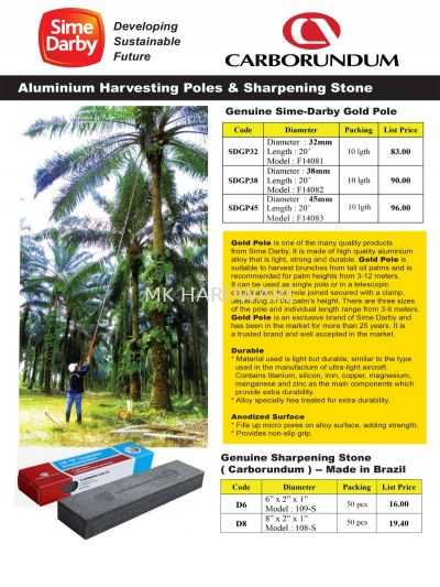 HARVESTING POLES AND SHARPENING STONE