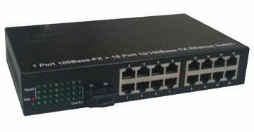 16 port + 1 fiber port managed switch