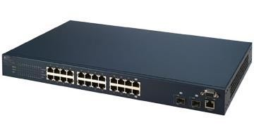24 port + 2 fiber ports managed switch
