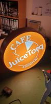 3' round lightbox Lighten Signage Signages