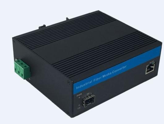 SFP slot based Gigabit Ethernet Industrial Grade Fiber Media Converter