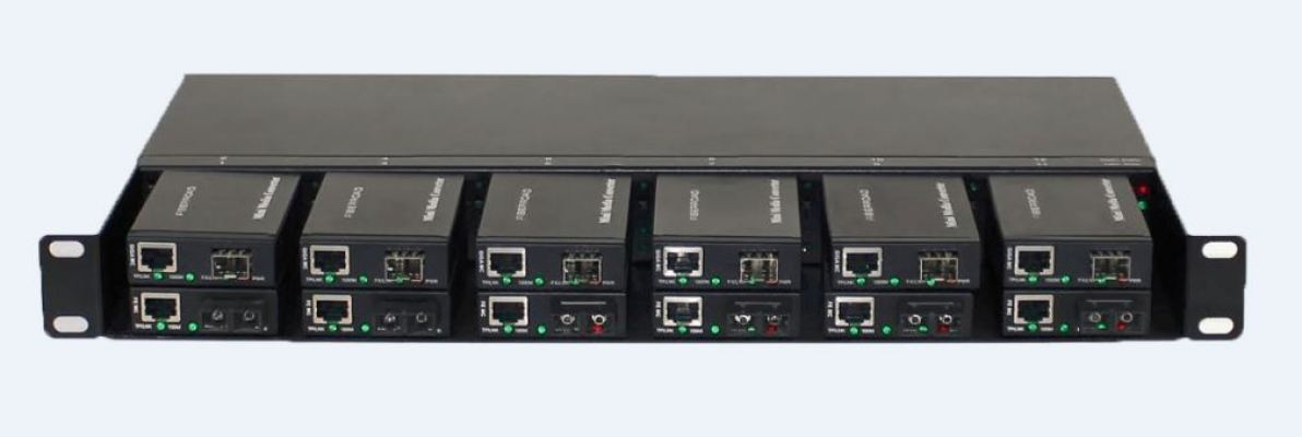 AN-CH05-Mini Unmanaged Series 12 Slots Chassis For Mini Media Converter