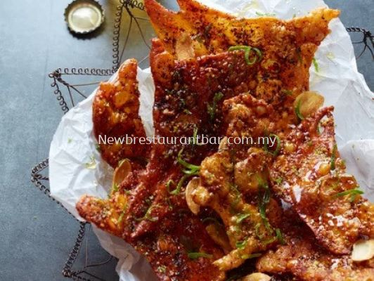 Sichuan Spicy Chicken Skin - Sample