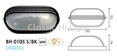 BH 0105 BULB HEAD LAMP S/BLACK