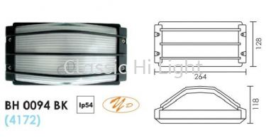 BH 0094 BULB HEAD LAMP BLACK