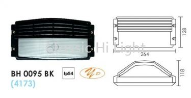BH 0095 BULB HEAD LAMP BLACK