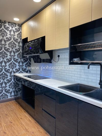 Solid Ply Laminate Kitchen Cabinet #LILI RESIDENSI