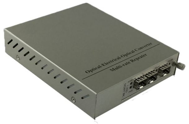 1+1 Protection Media Converter with 1 SFP port and 2 SFP uplink slots