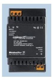 9928890012. -  PSU, 24W 12V 1.5A ((NW)) AC / DC DIN Rail Mount Power Supplies Weidmueller