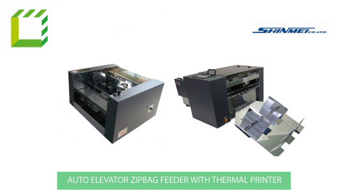 Auto Elevator Zip bag Feeder with Auto Thermal Printer (Japan)