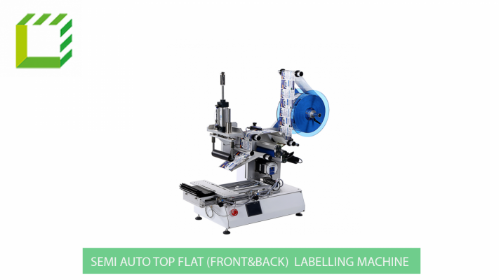 Semi Auto Top Flat (Front&Back) Labelling Machine (China)