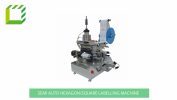 Semi Automatic Hexagon/Square Bottle Labelling Machine (China) Semi-Automatic Desktop Labelling Machines  Packaging Machines