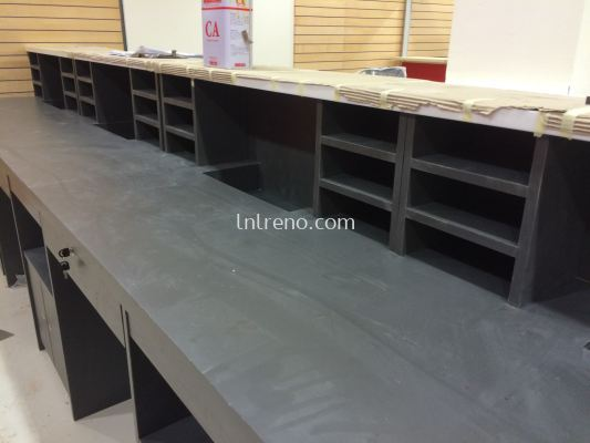 Custom made office filing cabinet, office table, office display cabinet, office reception counter, office wall paneling, office pantry