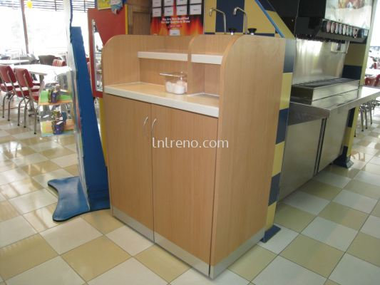 Custom made condiment bar and service station