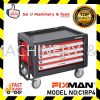 Fixman C1RP4 4 Drawers Roller Cabinet Roller Tool Chest Box On Wheels With Folding Pulling Handle Tool Storage