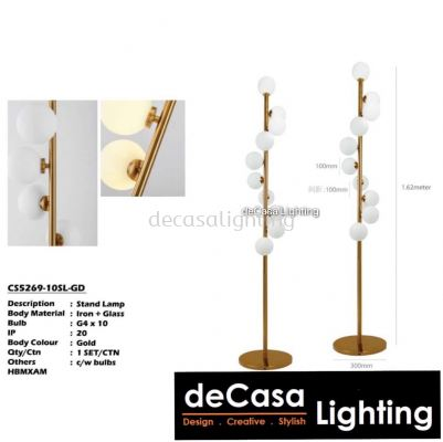 Designer Floor Lamp CS5269-105L-GD