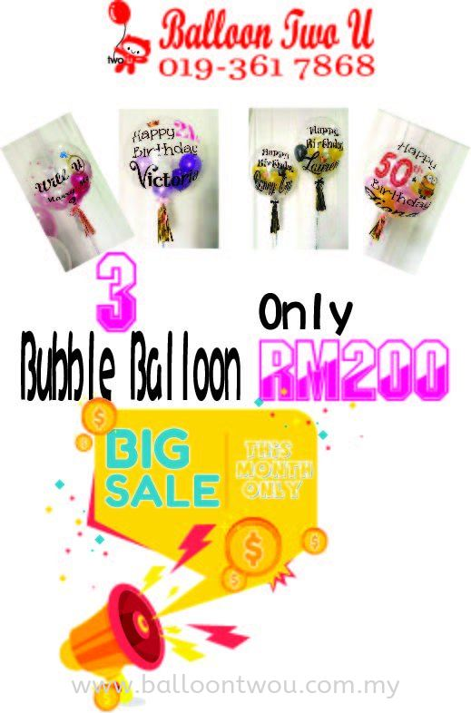Bubble balloon great offer