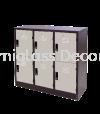 Half Height 6 Compartments Steel Locker Half Height Multiple Locker Office Steel Furniture