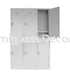 6 compartments steel locker Multiple Locker Steel Furniture