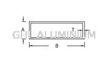 Rectangular Hollow Aluminium Hollow(Rectangular)