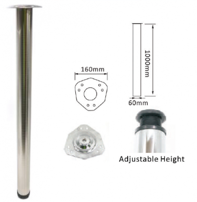 "40"" SW1012 DIA60MM TABLE LEG (BSN)"