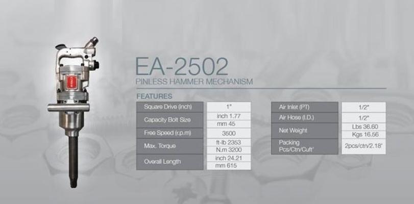 "Esko EA-2502 1"" Air Impact Wrench"