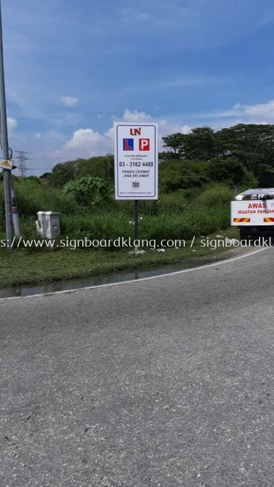 Perfect Driving school Road direction signboard at klang bukit tinggi