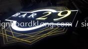 Bar 29 3D LED box up signboard at bukit jalil Kuala Lumpur 3D LED Signage