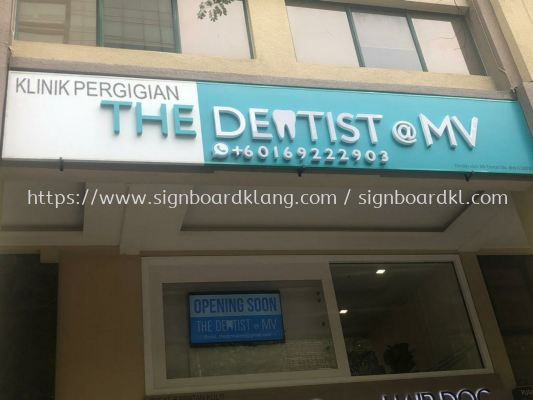 the dentist clinic 3D led channel box up lettering signage at mid valley Kuala Lumpur