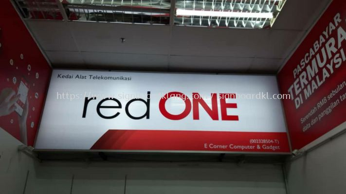 red one light box signboard at batang kali