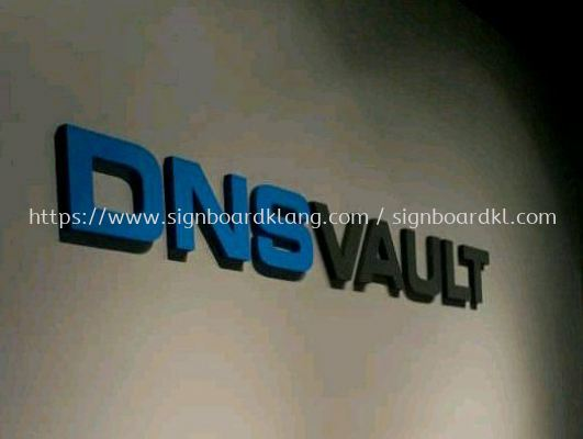 Dns Vault 3D Box up lettering indoor sigange at bukit jelutong shah alam