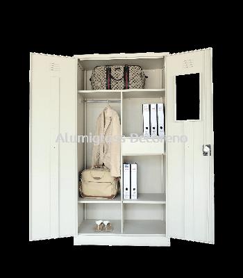Full Height Wardrobe with Steel Swinging Door