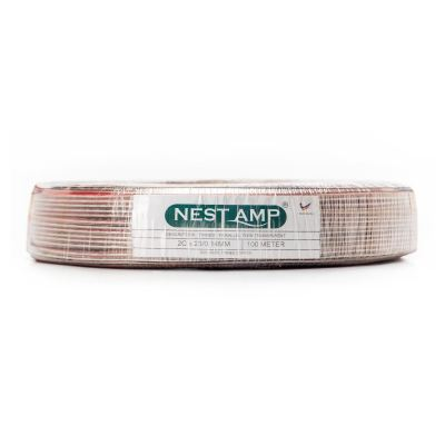 Nestamp Tinned Parallel Twin Transparent Cable 2Cx23/0.14mm (Clear)