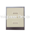 2 Drawer Filing Cabinet with Recess Handle Filing Cabinet Office Steel Furniture