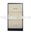 3 Drawer Filing Cabinet with Recess Handle Filing Cabinet Office Steel Furniture