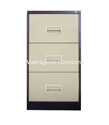 3 Drawer Filing Cabinet with Recess Handle