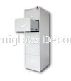 5 Drawers Filing Cabinet with Recess Handle Filing Cabinet Office Steel Furniture