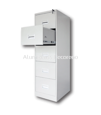 5 Drawers Filing Cabinet with Recess Handle