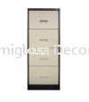 4 Drawer Filing Cabinet with Recess Handle Filing Cabinet Office Steel Furniture