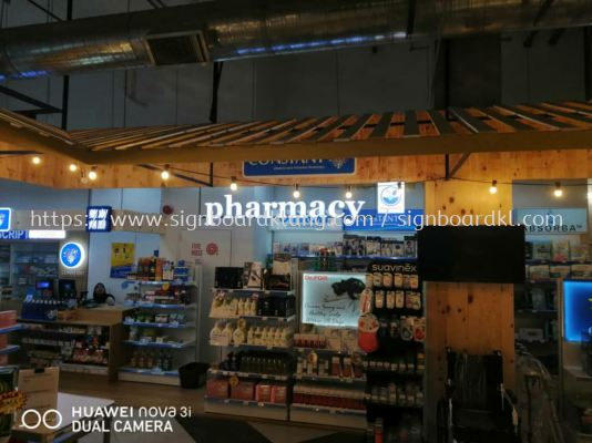 Pharmacy 3D led channel box up lettering signage at center i city mall shah alam