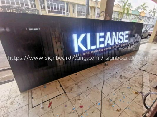 kleanse skin center Aluminum ceiling trims casing  3D LED channel box up lettering signage at bukit btinggi botanic klang