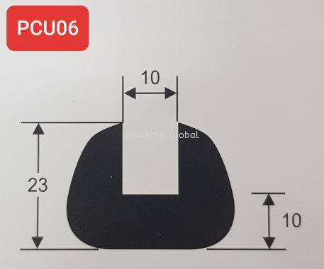 Capping Rubber Extrusions PCU06